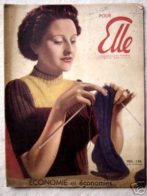 Pour Elle - knitting sock