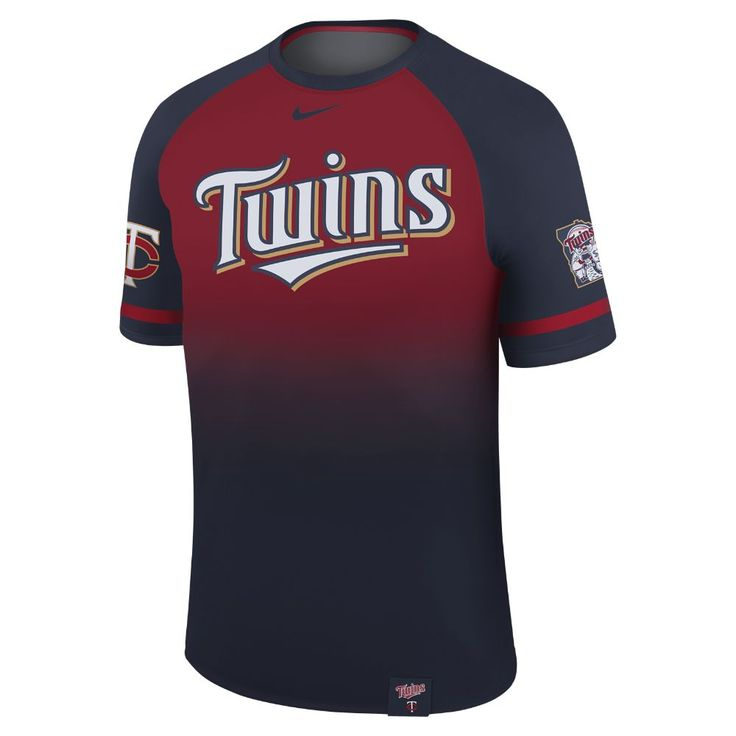 Nike Legend Raglan (MLB Twins) Men's T-Shirt Size Medium (Blue)