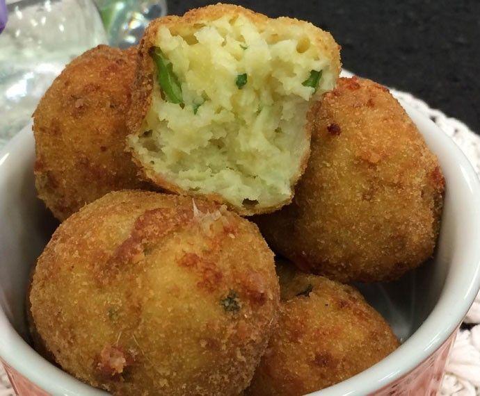 Bolinho de Arroz de Couve-flor | Pães e salgados > Bolinho de arroz | Mais Você - Receitas Gshow