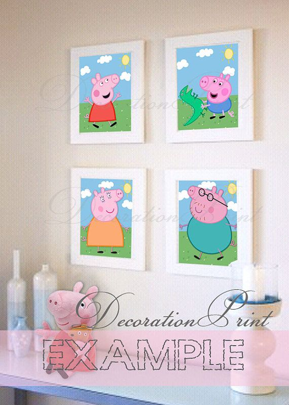Printable decorative paper Peppa Pig by DecorationPrint on Etsy. 25  unique Peppa pig house ideas on Pinterest   Peppa pig birthday