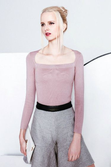 Square Neckline Long Sleeve Top – Dadaism Fashion