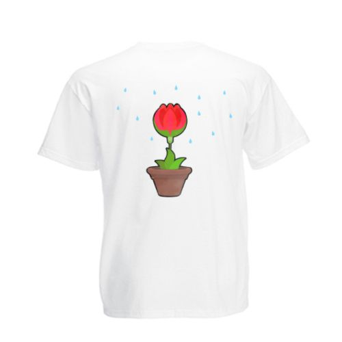 Acest tricou, precum si cel pentru mamica si cel pentru tatic, poate fi cumparat separat. Orice planta creste bine atunci cand este udata. Aici, copilul este reprezentat de o floare mica in ghiveci iar parintii sunt stropitori.  Pentru tatic, puteti cumpara acest tricou personalizat Tricou familie Stropitoare (tata), iar pentru mamica Tricou familie Stropitoare (mama).