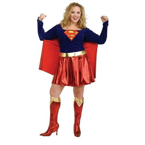 Plus Size Supergirl Costume Look fab this halloween http://adult-halloween-costume.fastblogger.uk/
