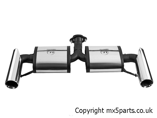 Stainless Steel Race Exhaust Rear Silencer, Mazda MX5 Mk3
