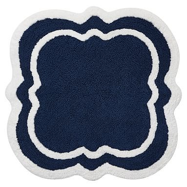 Best Bath Beach Bath Mats Images On Pinterest Bath Mats - Navy blue and white bath rug for bathroom decorating ideas