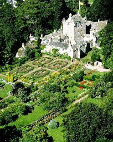 The 15th century Cawdor Castle in Nairn, Scotland has the most beautiful gardens