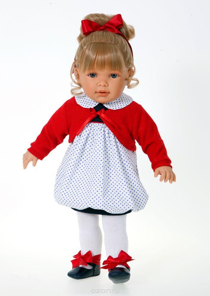 """Кукла Antonio Juan """"Корнелия"""", цвет: красный, 55 см"""