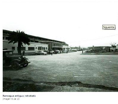 ESTACIÓN  DE RANCAGUA.  El edificio original fue construido en 1860. Posteriormente fue ampliado a inicios del siglo XX.