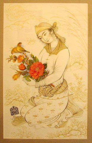 تشعیر و گل و مرغ