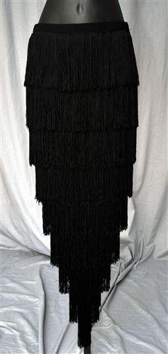 V Shape Fringe Skirt