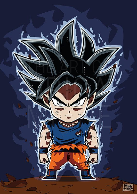 Goku Ultra instinct Chibi by Migne Huynh