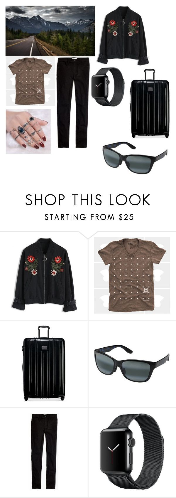"""""""Road Trip"""" by giulia-ostara-re ❤ liked on Polyvore featuring Chicwish, Tumi, Maui Jim and Madewell"""