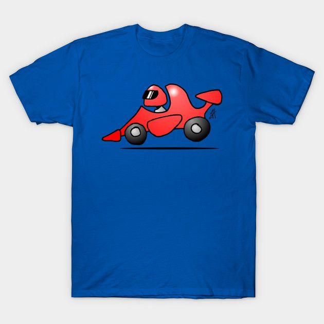 Red race car #Tshirt    #Racecar #Race #Tshirt #Teepublic #Cardvibes #Tekenaartje #SOLD