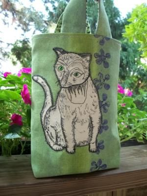 Painted Cat Tote Bag: I have had many cats and kittens in my life, and enjoyed them.