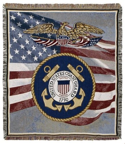 Personalized US Coast Guard Tapestry Throw