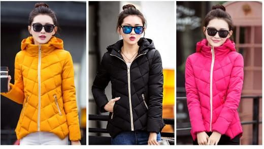 New Winter Jacket Women Hooded Down Cotton Short Coat Woman Clothes Ladies Parka Regular 100%