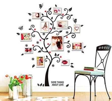 RU-BING Immagine Creativa Albero Photo Frame Adesivi Murali, Camera da Letto Soggiorno Adesivi da Parete Removibili / Stickers Murali / Decorazione Murale