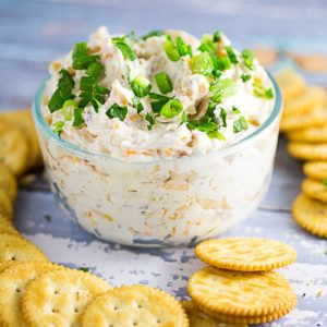Three favorite flavors come together in this amazing Cheddar Bacon Garlic Dip recipe, with cheddar cheese, bacon, and garlic, in a creamy cream cheese dip.