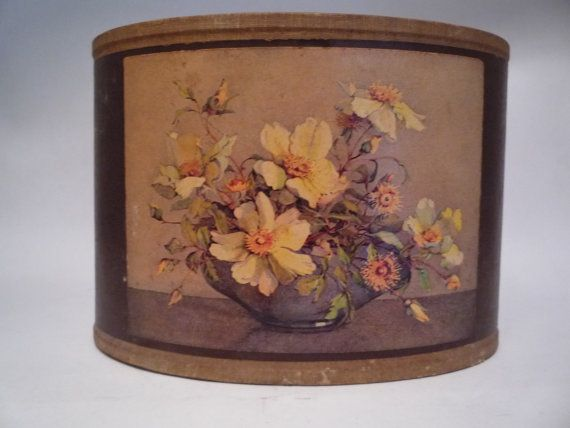 Vintage Chintz Fabric Covered Floral Desk Caddy / by TroveMagpie  $22