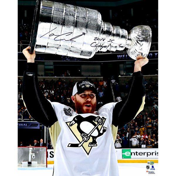 "Ian Cole Pittsburgh Penguins Fanatics Authentic 2016 Stanley Cup Champions Autographed 16"" x 20"" Raising Cup Photograph with 2016 SC Champs Inscription - $64.99"