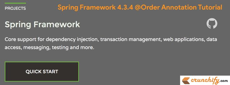#Spring Web Framework 4.3.4 @Order #Annotation #Tutorial – Sort Order for an Annotated Bean Component http://crunchify.me/1VIzUje #java #job