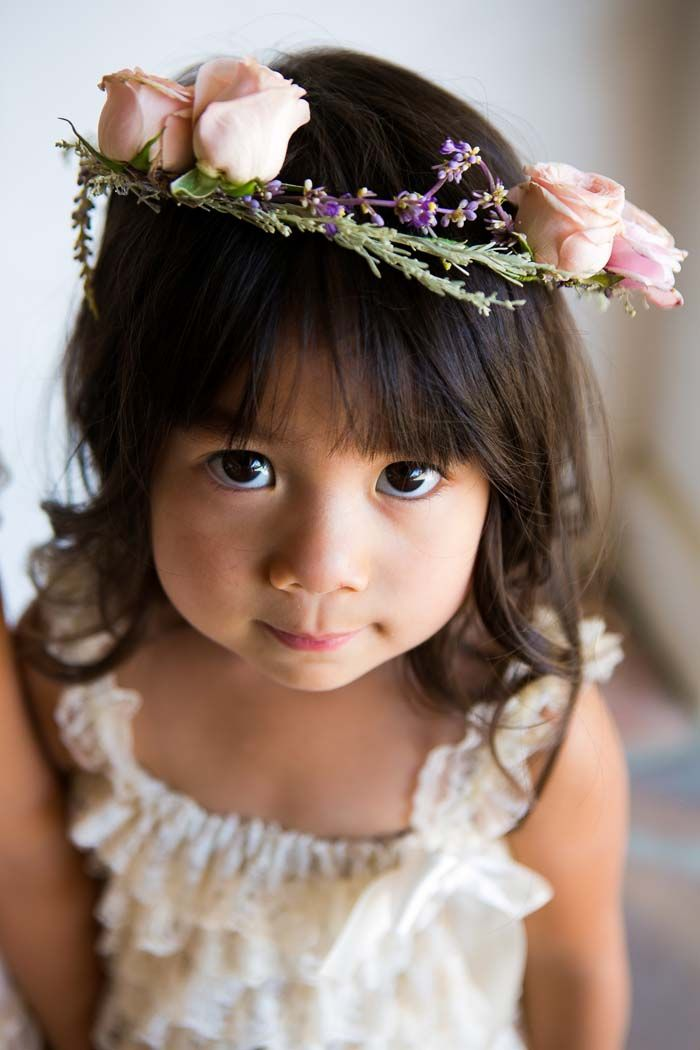 A Very Merry California Ranch Wedding Flower Girl Crown