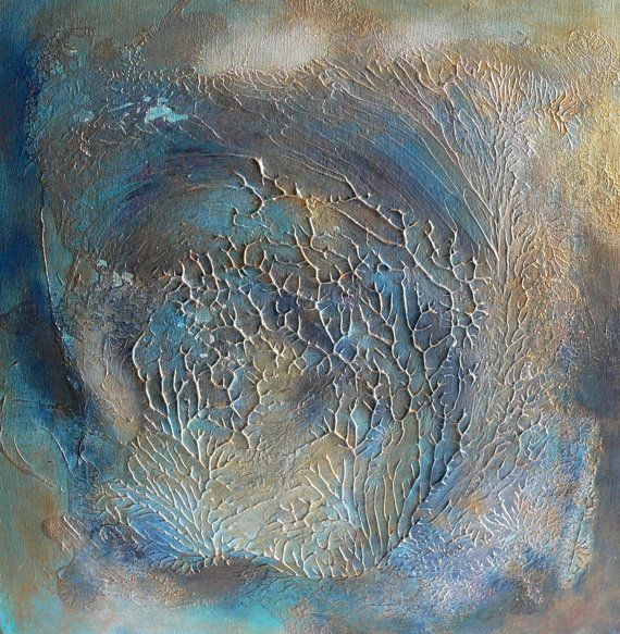 """Abstract painting- """"Blue wave"""" Acrylic on canvas board Abstract painting Acrylic painting Blue painting Wave painting"""