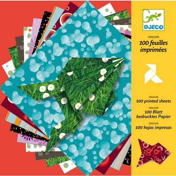 Origamipapírok-100 db gyönyörű mintájú papír (Djeco) | Pandatanoda.hu Játék…
