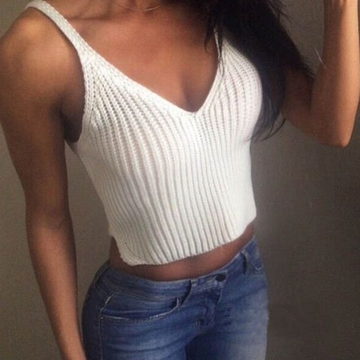 >> Click to Buy << 2017 Fashion Knit Crop Tops Women Slim Sling Tank Top Camis Casual Vest Female Tops Patchwork Sexy Hollow Out Sleeveless Tanks#5 #Affiliate