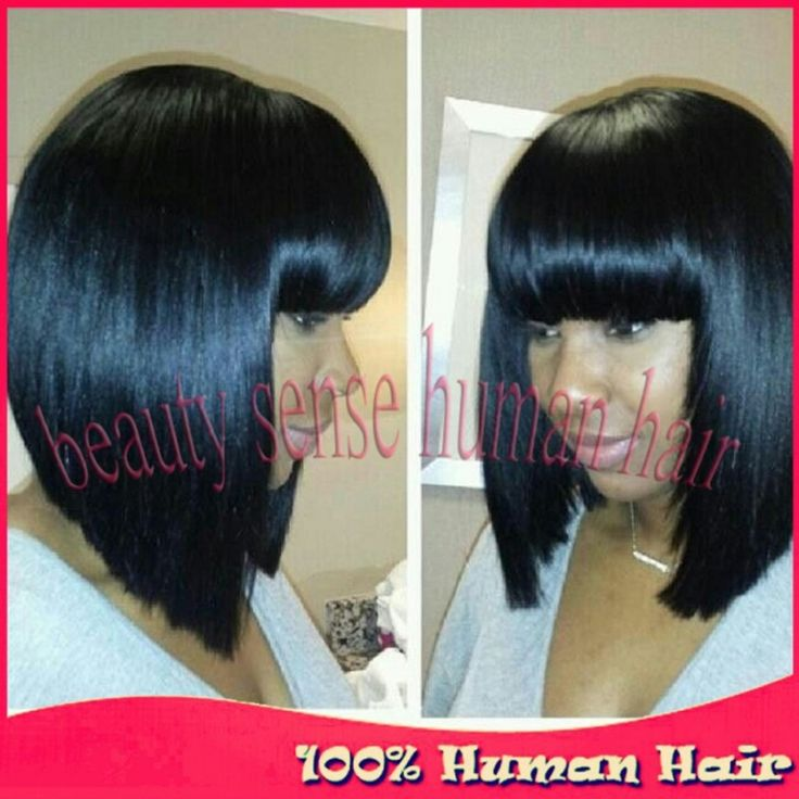 Find More Human Wigs Information about 2015 Fashion Short cut Glueless bob full lace wigs with bangs Virgin Brazilian Human hair lace front bob wigs for black women,High Quality wig green,China wig heads for sale Suppliers, Cheap wig gold from Top-level beauty sense human hair on Aliexpress.com