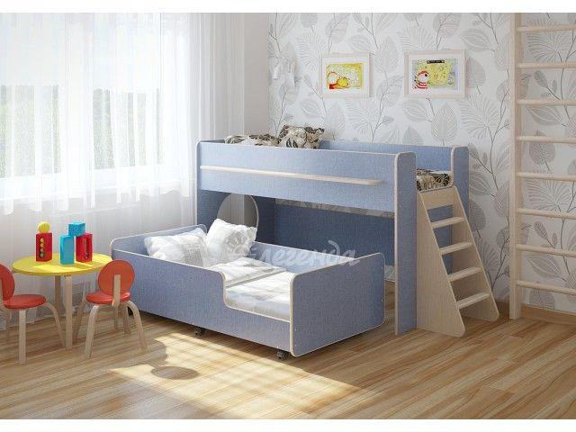 Детская кровать Легенда 23 комплектация 3  Кровать детская Легенда 23 комплектация 3.Детская выкатная двухъярусная кровать.    Замечательный комплект для двоих детей – удобно и выгодно.   Комплект занимает немного места: решение для площади малых габаритов, экономия пространства.   Под спальным местом располагается игровая зона – свой уголок для ребенка.   Отличная функциональная выдвижная кровать Легенда 24 со спальным местом 160х80см. Кровать легко выдвигается и задвигается с помощью…