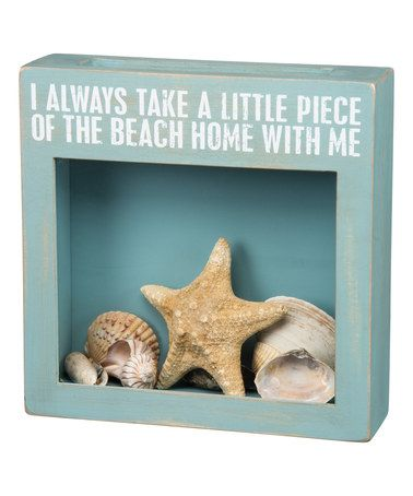 Love this Blue 'Take A Piece Of The Beach Home With Me' Cork And Cap Holder on #zulily! #zulilyfinds