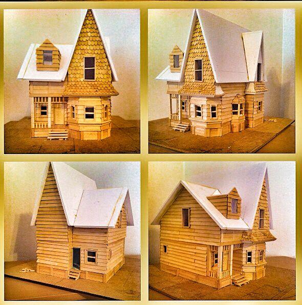 Maqueta casa up hobbys proyecto house up pixar disney - Como hacer una maqueta de una casa ...