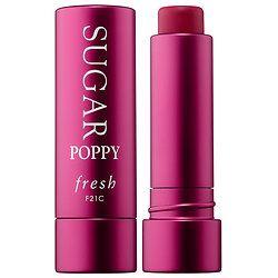 Fresh - Sugar Lip Treatment Sunscreen SPF 15  in Sugar Poppy Tinted - deep pink red tint