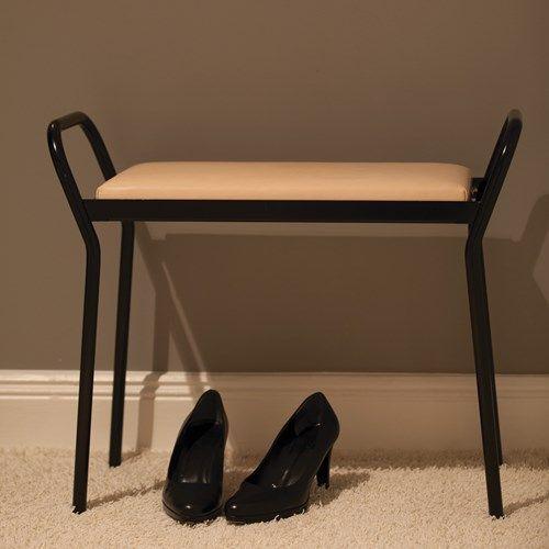 Anyone pall - Anyone pall - svart med naturfärgat läder