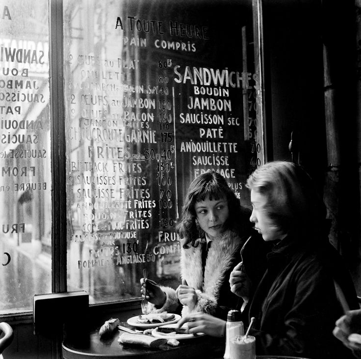Ed van der Elsken : Cafe Culture in Bohemian Paris, 1954.