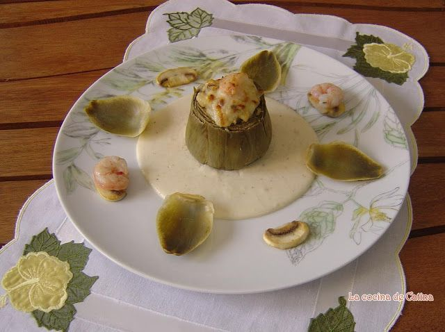 La cocina de Catina: Alcachofas rellenas de gambas