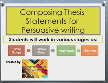 "writing a thesis statement powerpoint middle school Explanations and examples of the different methods for evaluating prompts and writing a thesis statement • opportunities for students to practice guided note-taking • ""now it's your turn"" section for students to practice skills learned thesis statement powerpoint presentation includes: • introduction slides."