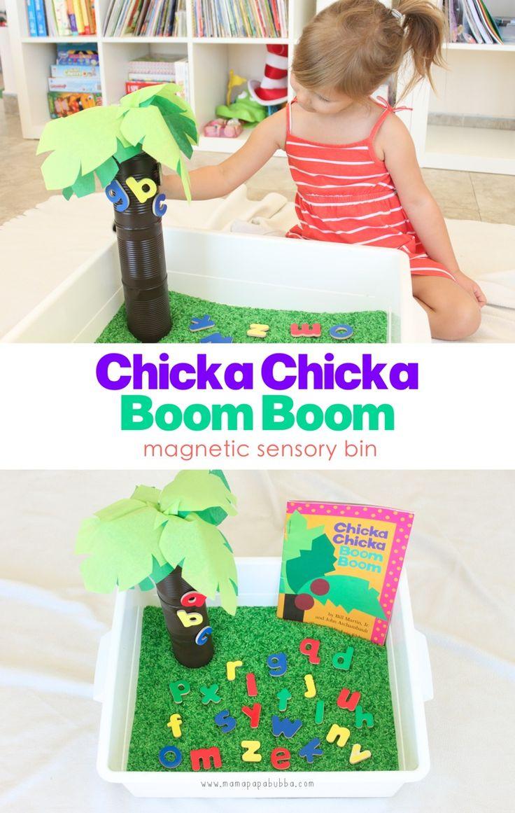 Chicka Chicka Boom Boom Magnetic Sensory Bin | Mama.Papa.Bubba.