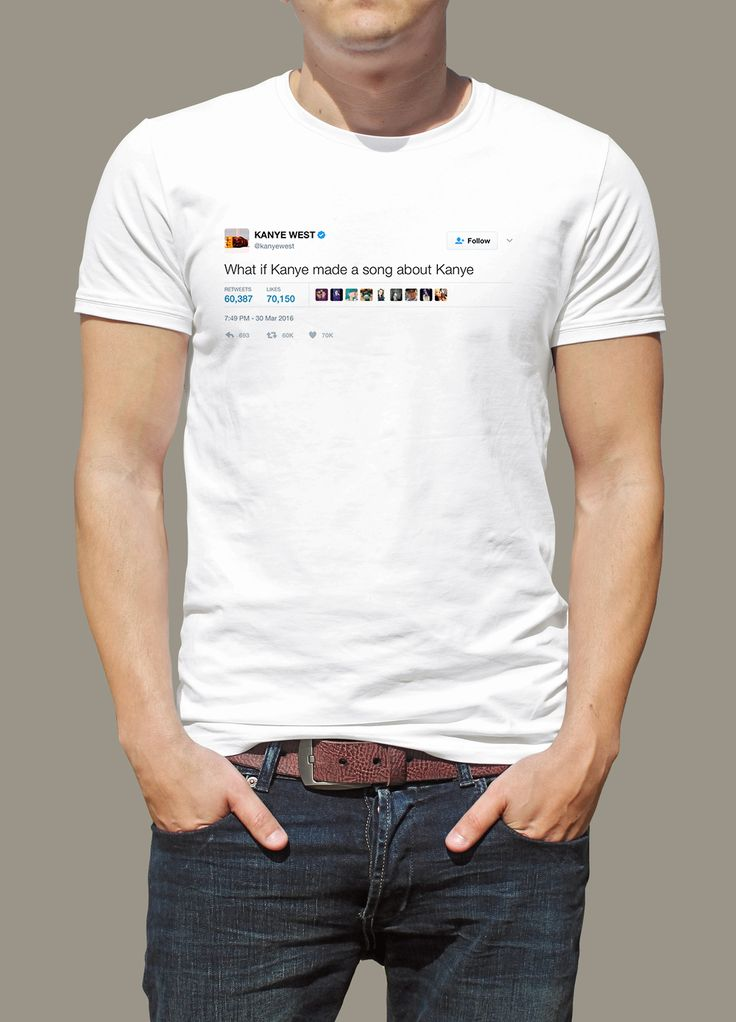 """Kanye West - """"What if Kanye wrote a song about Kanye"""" Tee"""