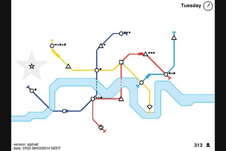 「Mini Metro」は、都市計画と地下鉄路線図がひとつになったゲームだ。だんだん増えて行く各駅を線路でつなぎつつ、駅が人であふれたり鉄道が止まったりしないようにするワザを競う。