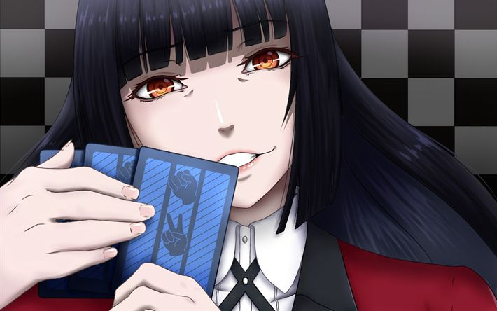 Download wallpapers Kakegurui, Yumeko Jabami, japanese anime girl, Manga