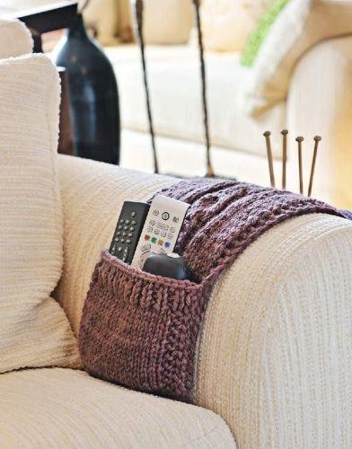 knitted remote holder. wonderful