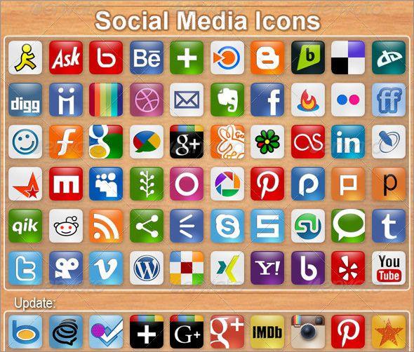 Social Media Icons Social Media Icons Vector Social Media Icons White Social Media Ico Social Icons Free Social Media Icons Vector Social Media Design Graphics