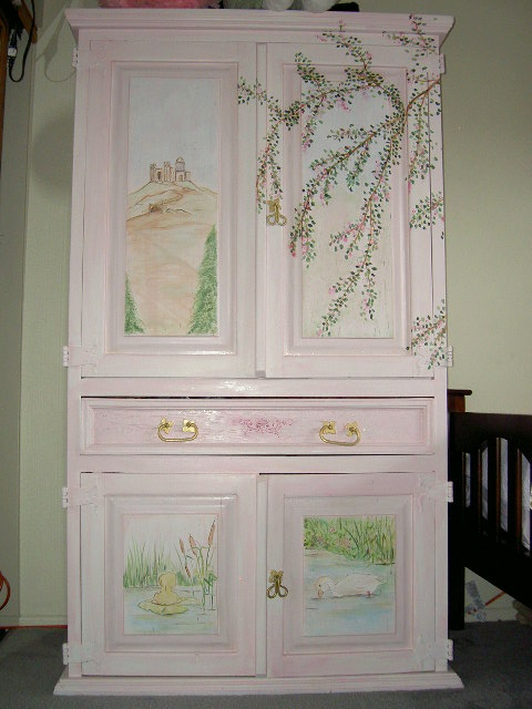 Old Armoire Transformed In A Toy Storage For A Girl S