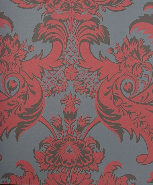 Grey damask wallpaper large prints print canada scale format digital printing