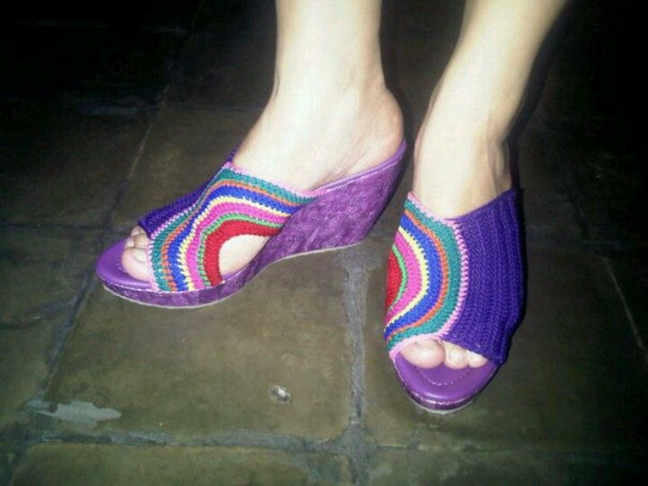 Crochett Shoes #Rainbow $50
