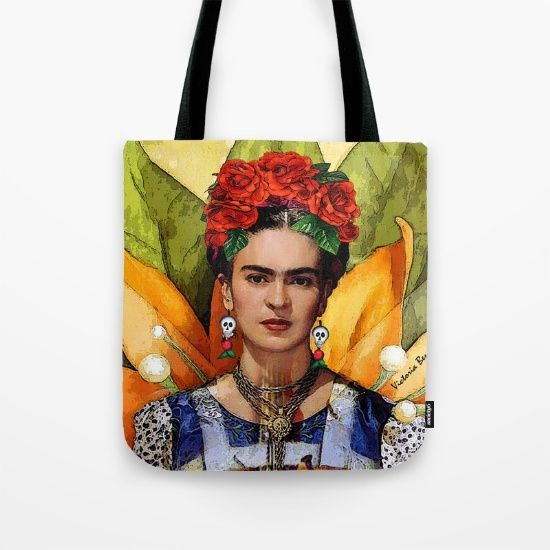 DIGITAL IMAGING By Victoria Benitez<br/> Mexican folk art, digital imaging by Victoria Benitez<br/> Frida Kahlo (1907-1954), Mexican Painter.<br/> DESIGN By Victoria Benitez, digital imaging, collage, , loteria, watermelon, red, Frida Kahlo, Mexican folk art.<br/> From 1926 until her death, the Mexican painter Frida Kahlo created striking, often shocking, images that reflected her turbulent life.<br/> Kahlo was one of four daughters born to a Hungarian-Jewish father and a mother of Spanish…