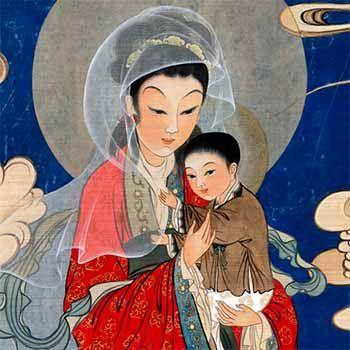 Chinese Madonna and Jesus