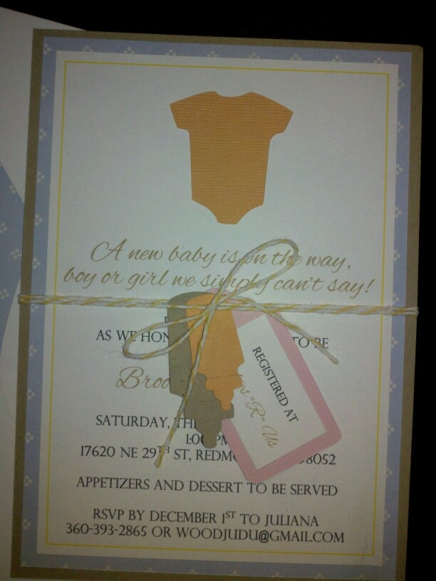 gender unknown baby shower invite we made my crafty self things i